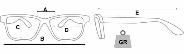 medidas y pesos de las gafas radiologicas