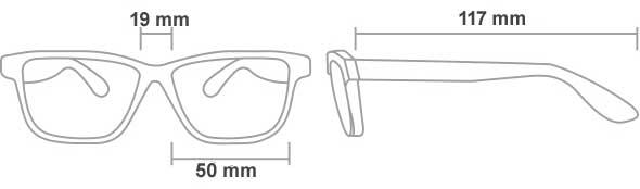 Medidas de las gafas plomadas 206